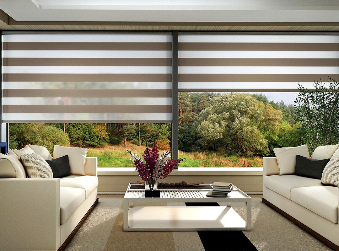 Bambu zebra perde tamda doğal bir görünüm elde etmek isteyenlere göre bir modeldir.