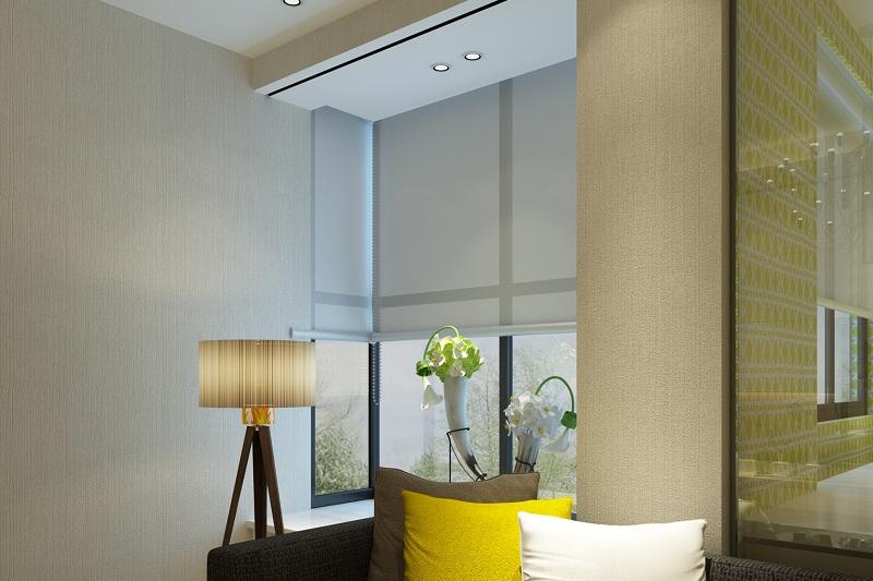 Gri stor perdeler iş yeri, büro, ofis ve ortak ortak kullanım alanlarına uygulandığında mekana kurumsal bir hava katmaktadır.